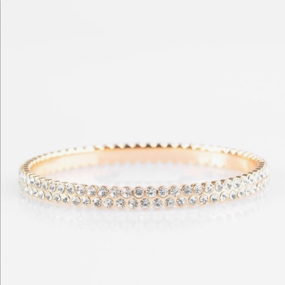 Decked Out in Diamonds - Gold Bracelet